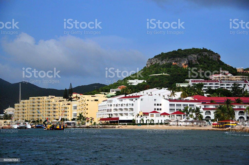 Simpson Bay, Sint Maarten, Caribbean stock photo