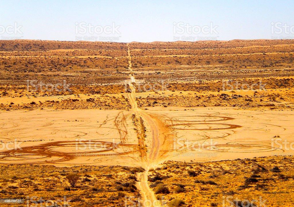 Simpson Desert Burnouts stock photo