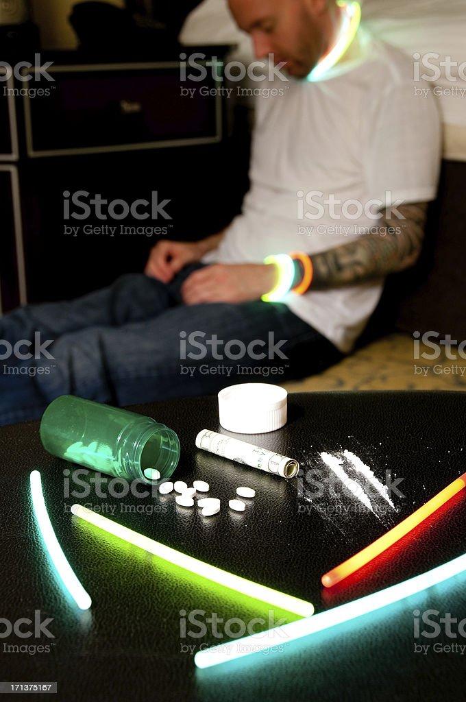 Simulated prescription Overdose royalty-free stock photo
