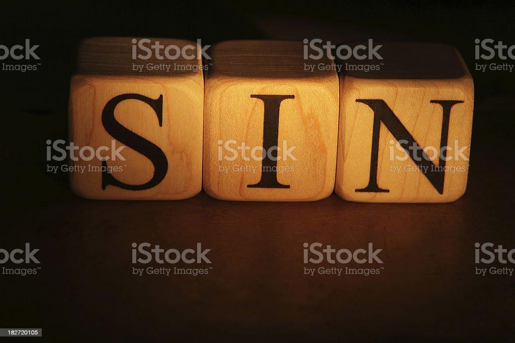 Sin - Building Blocks royalty-free stock photo