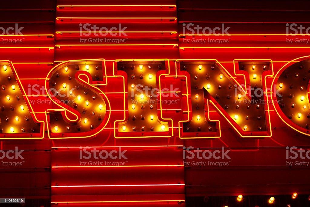 Sin Neon Sign stock photo