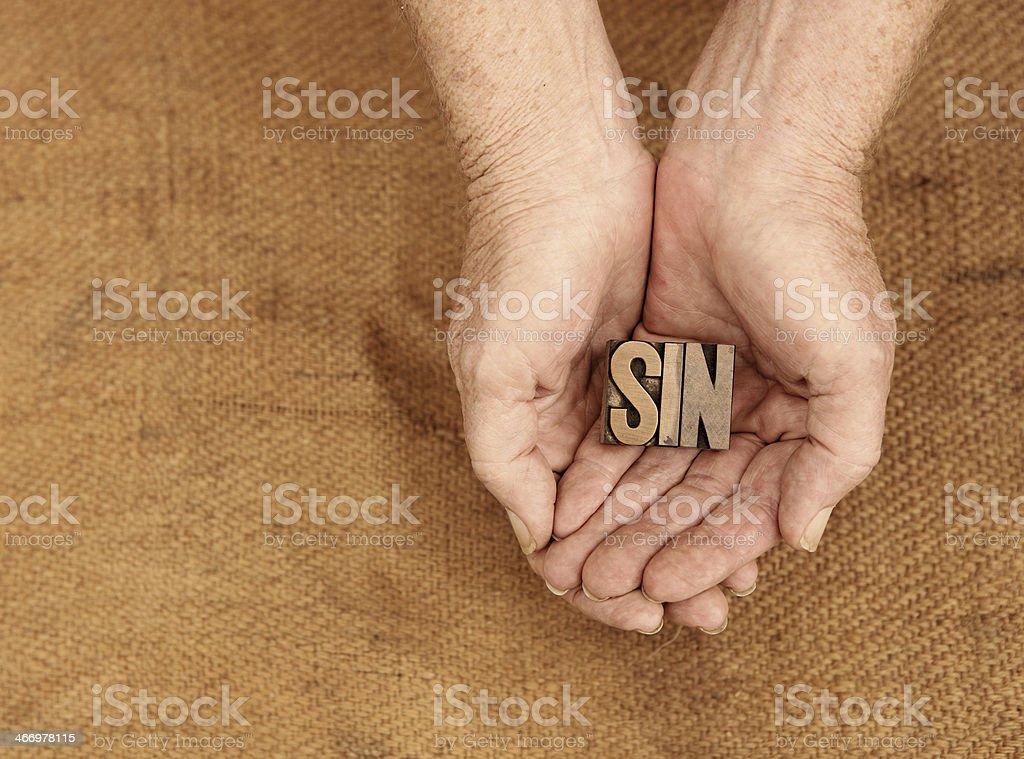 Sin royalty-free stock photo