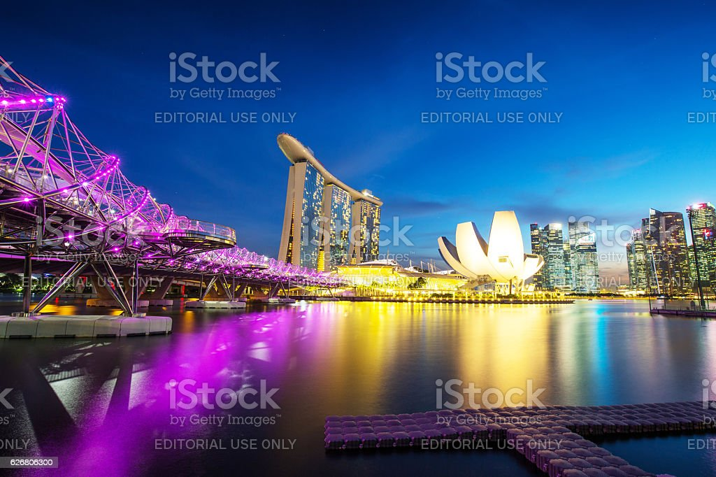 Sinagpore Marina Bay area stock photo