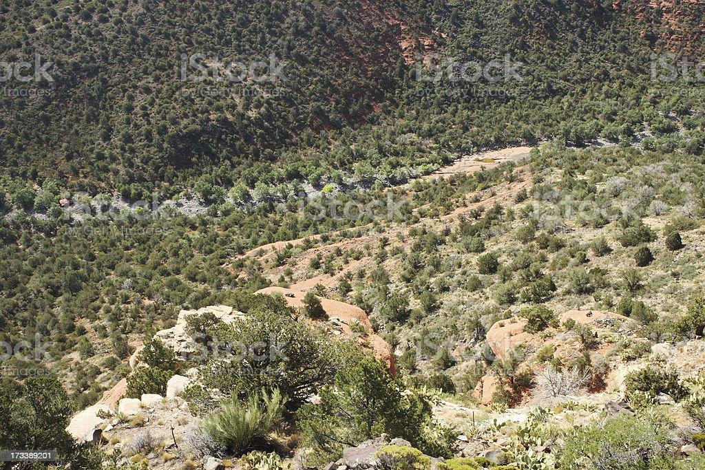 Sinagua Desert Canyon Cliff View royalty-free stock photo