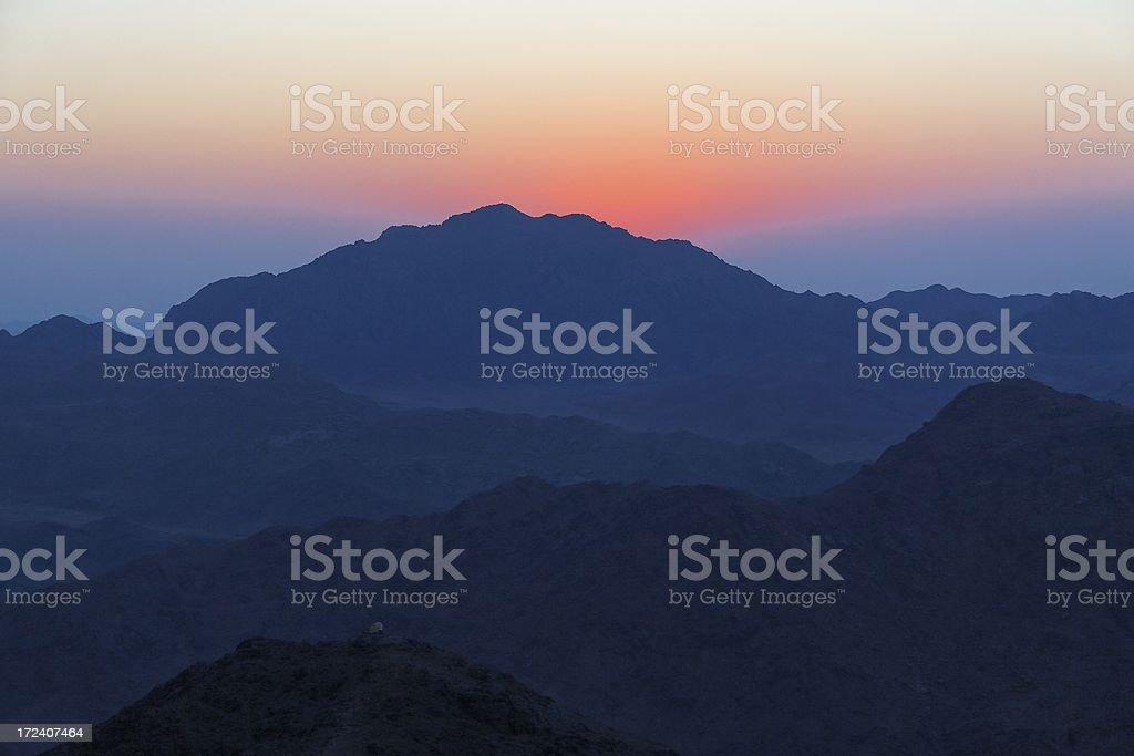 Sinai dawn stock photo