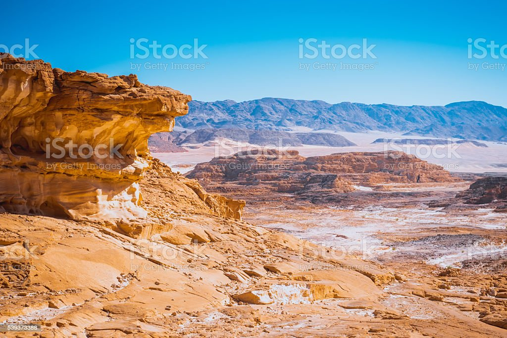 Sinai desert landscape stock photo