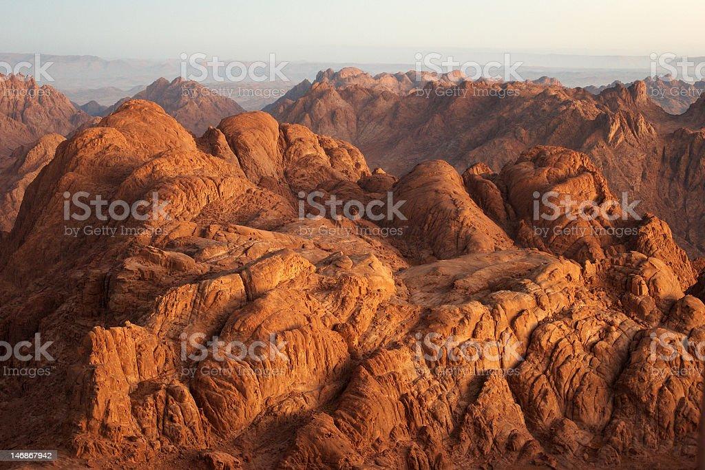 Sinai in early morning stock photo