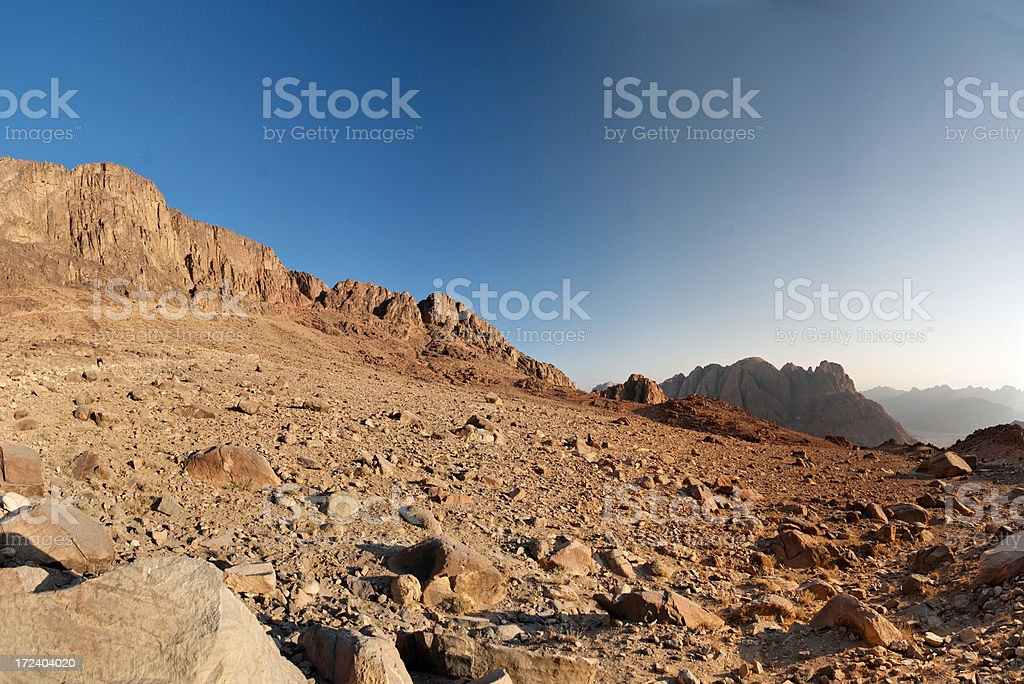 Sinai morning royalty-free stock photo