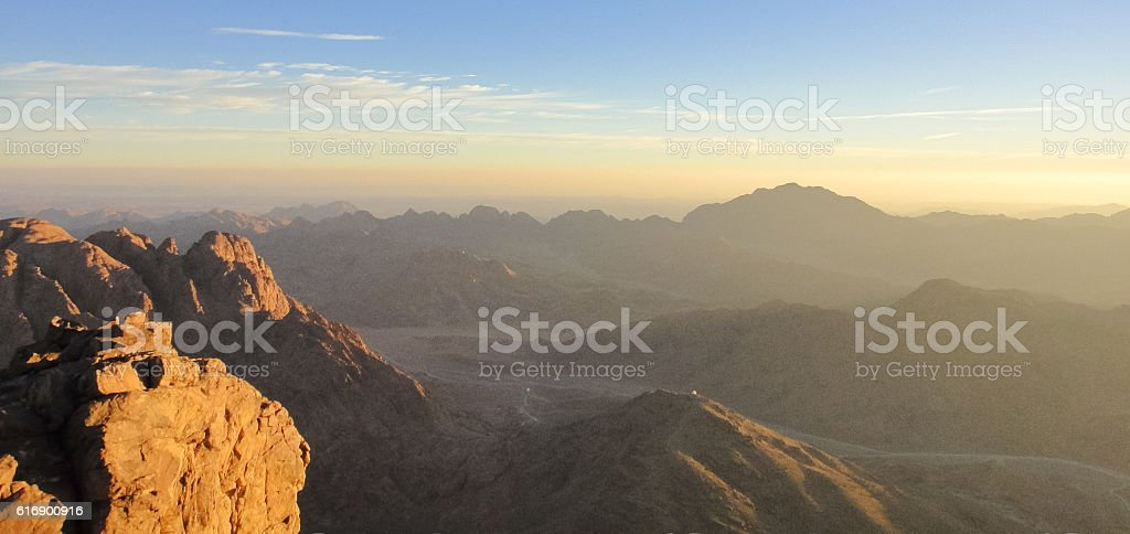 Sinai mountains. Egypt stock photo