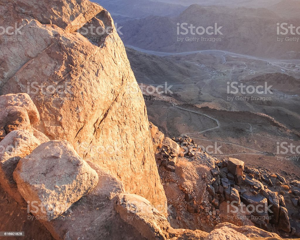 Sinai mountains. Egypt stock photo