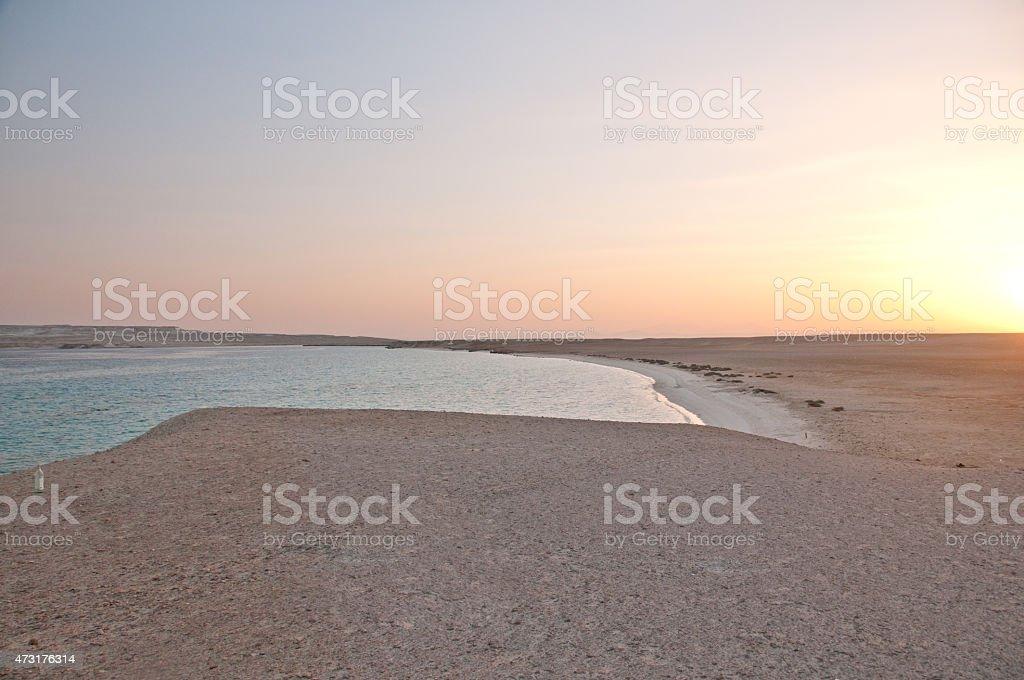 Sinai do pôr-do-sol foto royalty-free