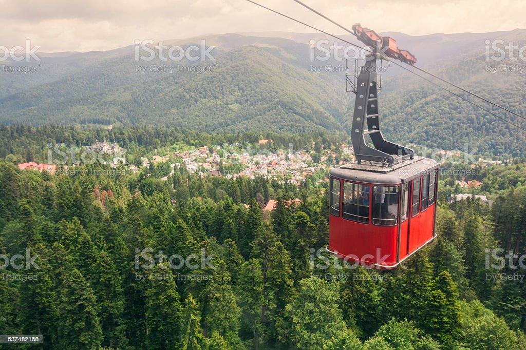 Sinaia cable car stock photo