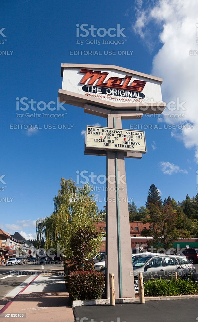 Since 1947 Mels Original Restaurant Sign stock photo