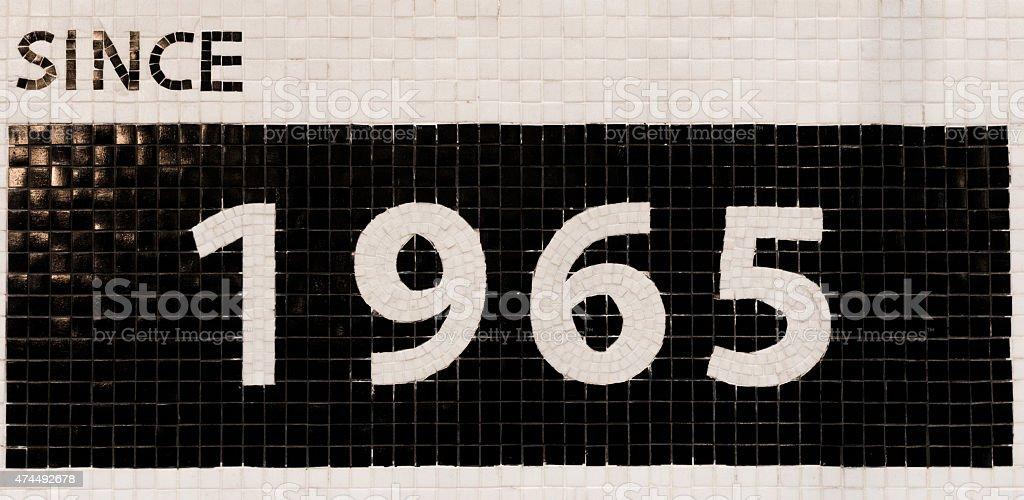since 1965 stock photo
