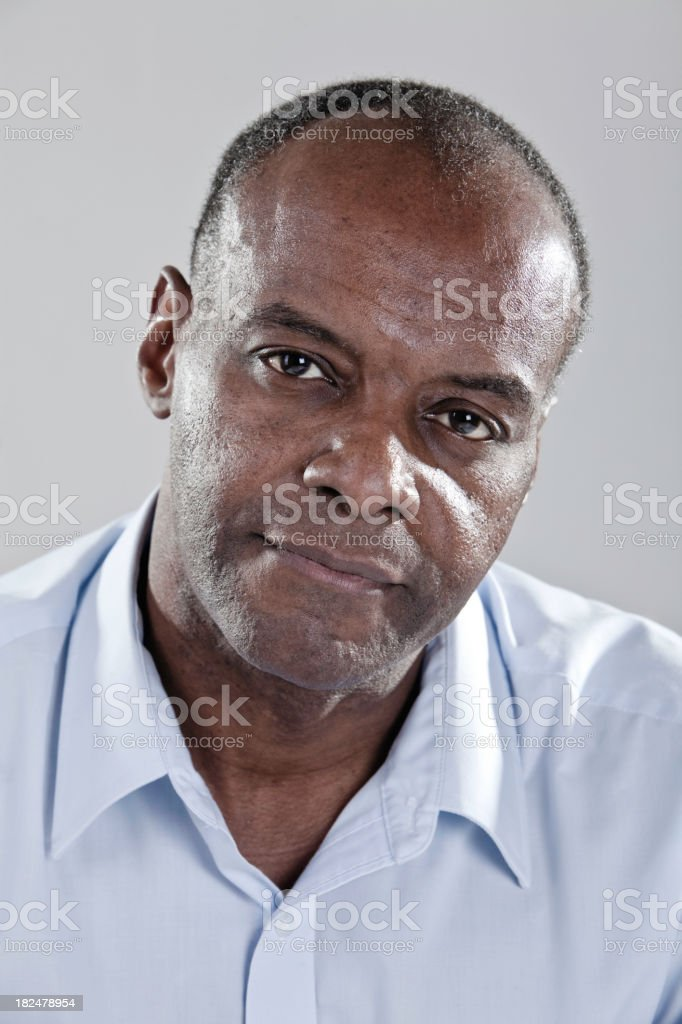 Sincere Black Man royalty-free stock photo