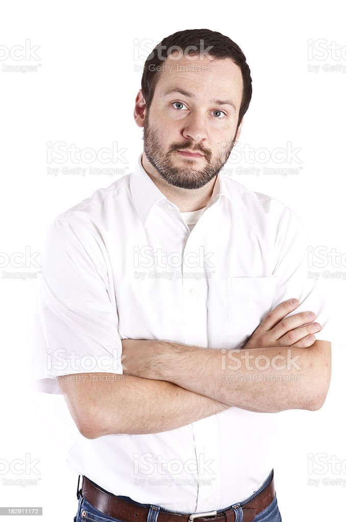 Sincere man on white royalty-free stock photo
