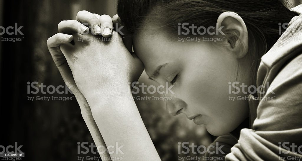 Sincere Prayer stock photo