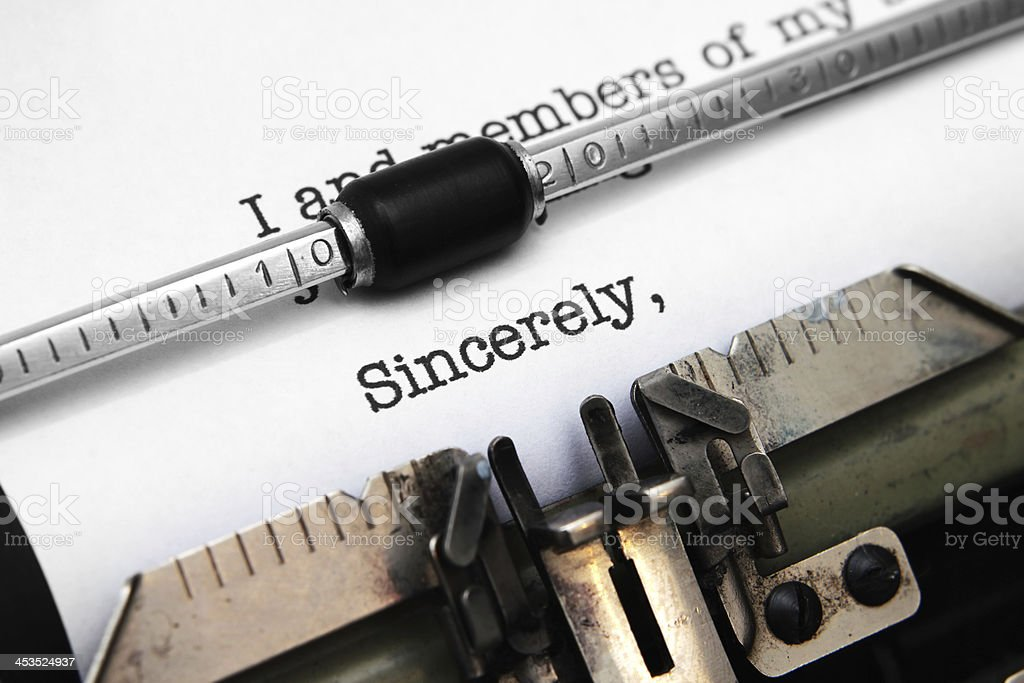 Sincerely royalty-free stock photo