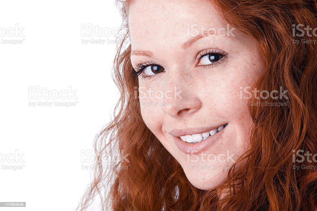 Sincerely smiling girl royalty-free stock photo