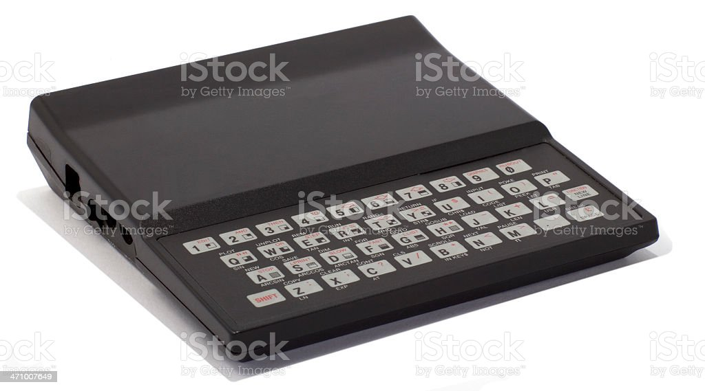 Sinclair ZX81 stock photo