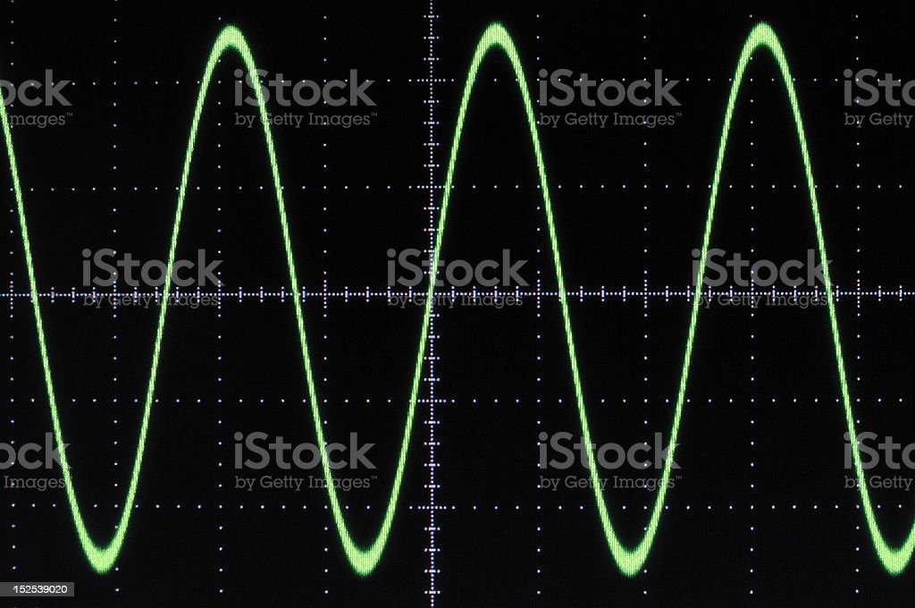 Sine wave stock photo
