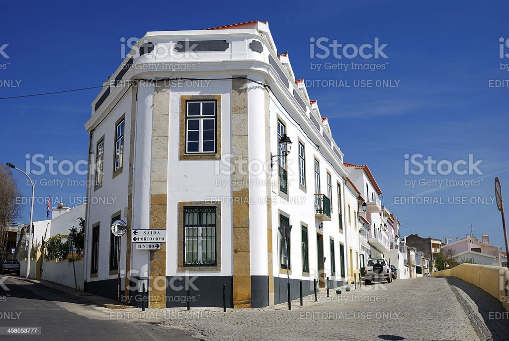 Sines street, Portugal royalty-free stock photo