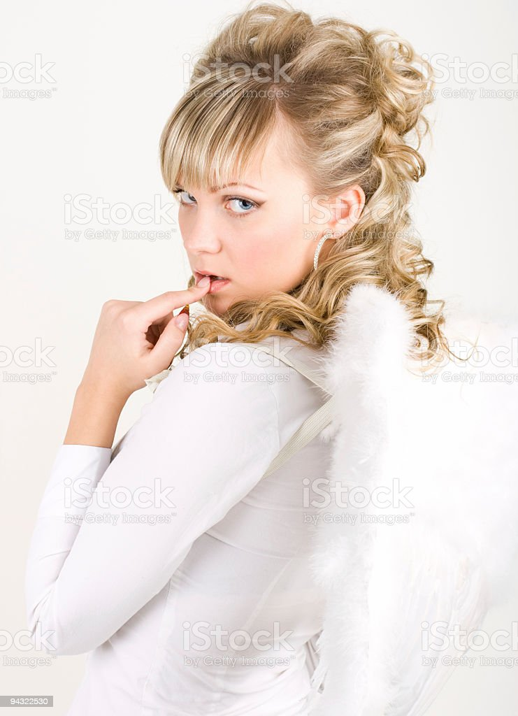 Sinful angel royalty-free stock photo