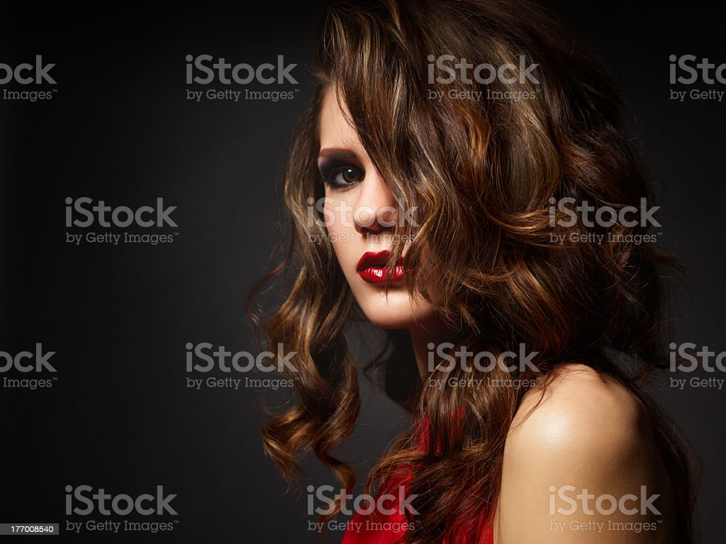 Sinful look royalty-free stock photo