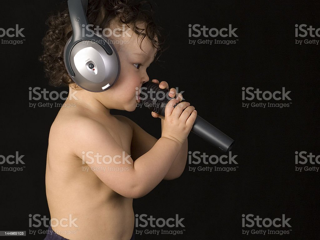 Sing baby. royalty-free stock photo