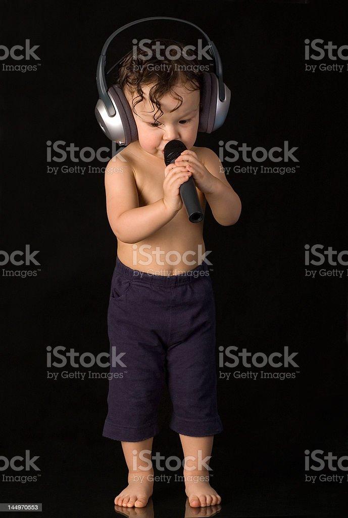 Sing baby. royalty-free stock photo