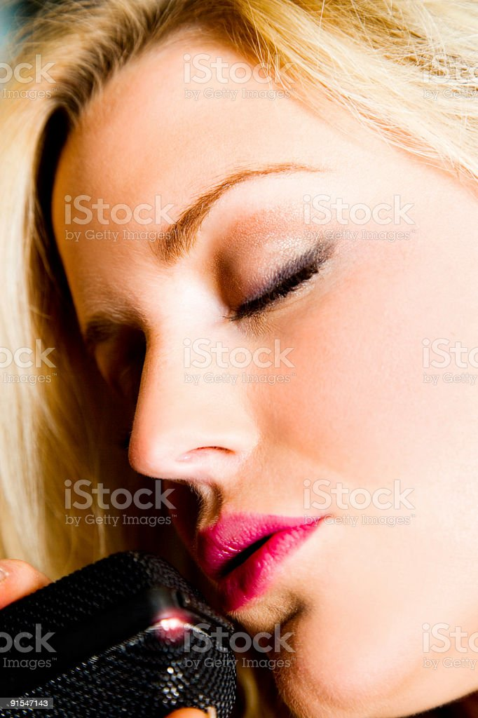 Sing (Vertical) royalty-free stock photo
