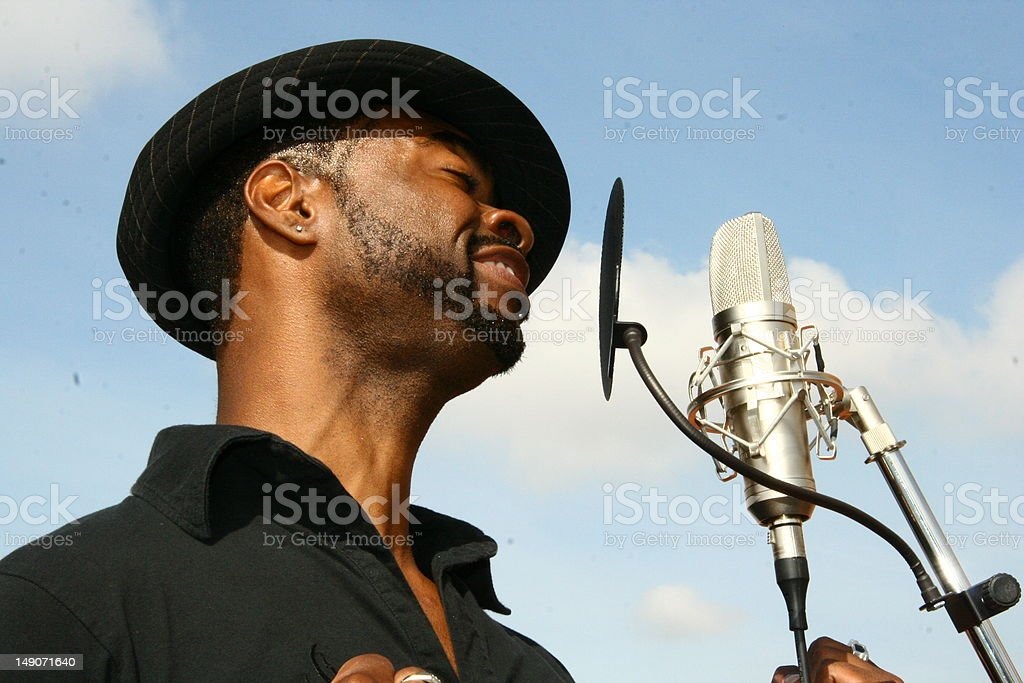 Sing to me stock photo