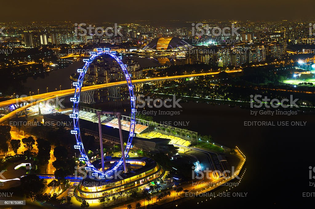 Singapore, 2016 January 15: Landscape of Marina Bay stock photo