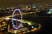 Singapore, 2016 January 15: Landscape of Marina Bay