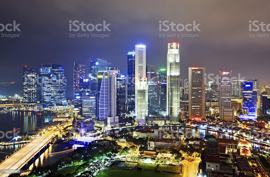 Singapore aerial royalty-free stock photo