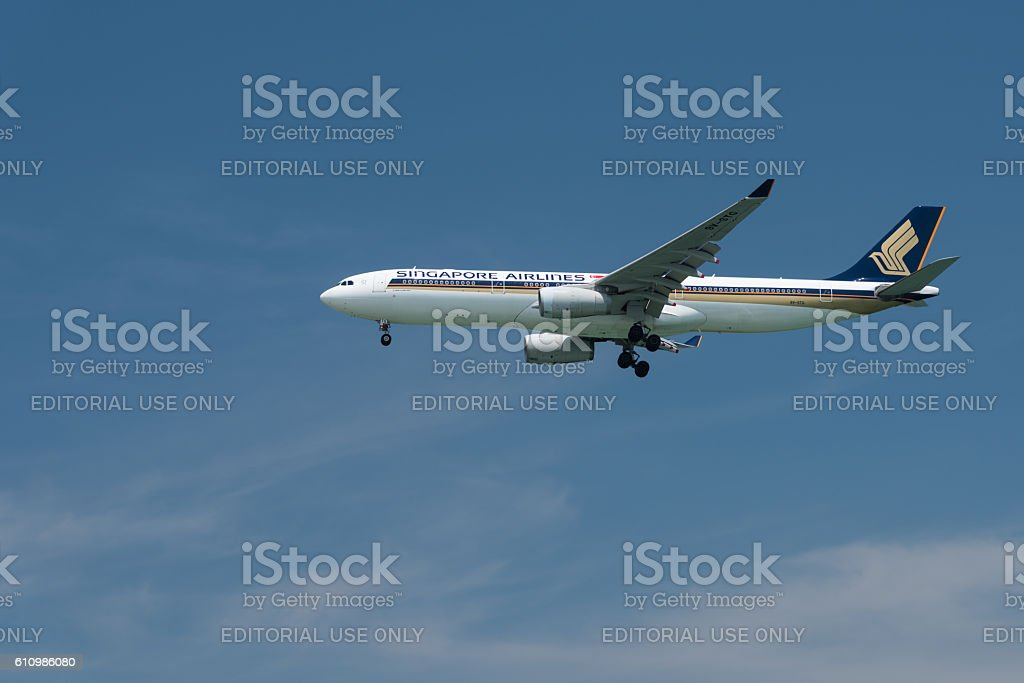 Singapore Airlines Airbus A330-300 stock photo