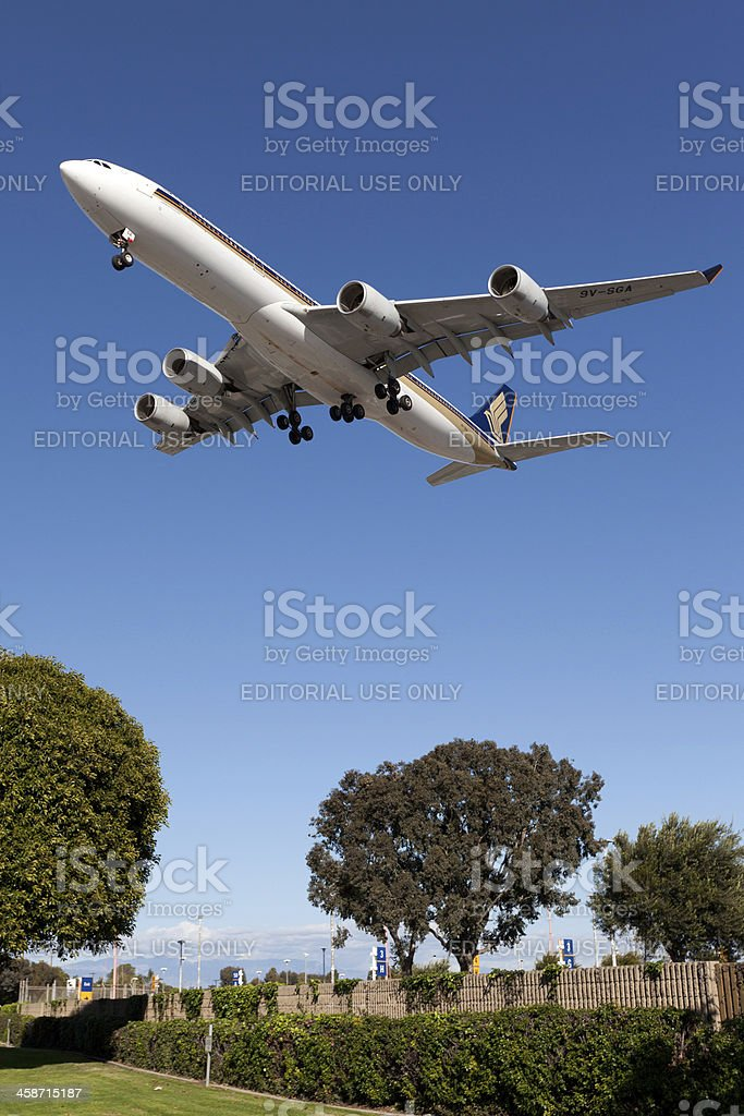 Singapore Airlines Airbus A340-500 stock photo