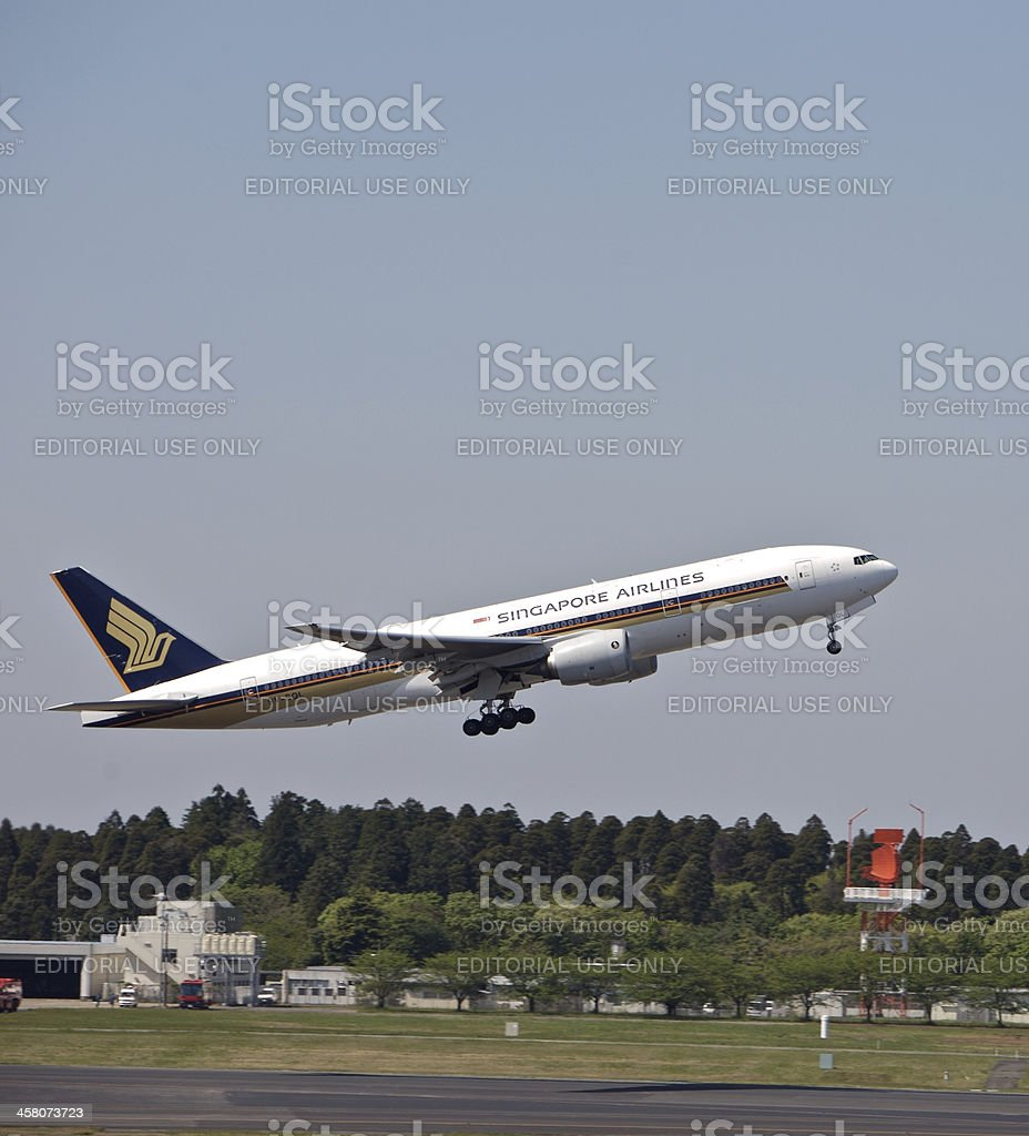 Singapore Airlines Boeing 777-200ER stock photo