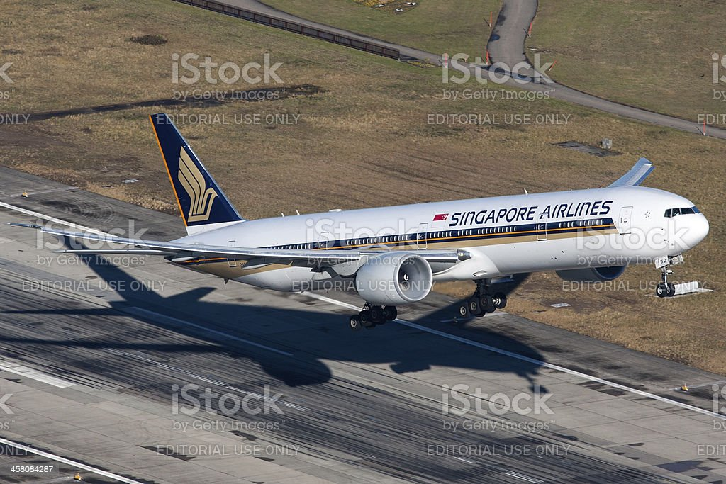 Singapore Airlines Boeing 777-300ER stock photo