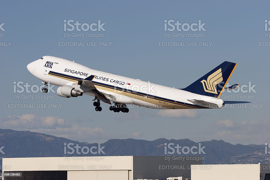 Singapore Airlines Cargo Boeing 747 stock photo