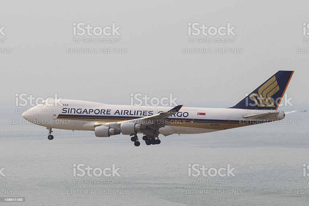 Singapore Airlines Cargo Boeing 747-400 stock photo