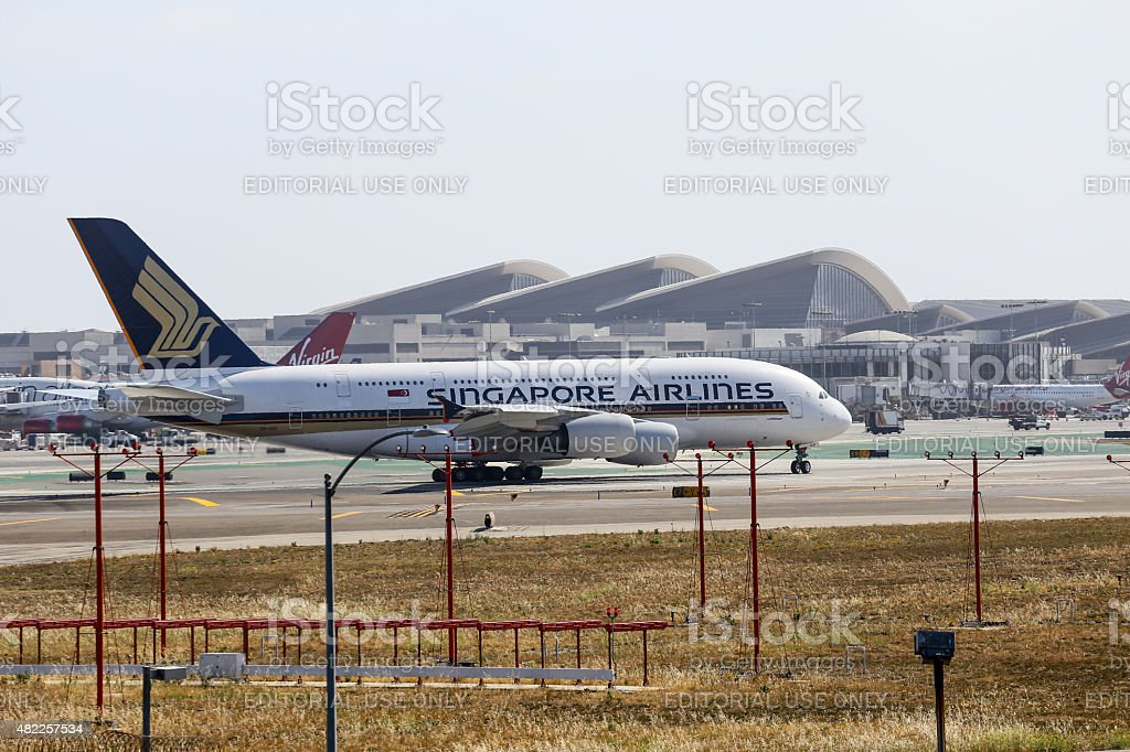 Singapore Airlines in Los Angeles stock photo