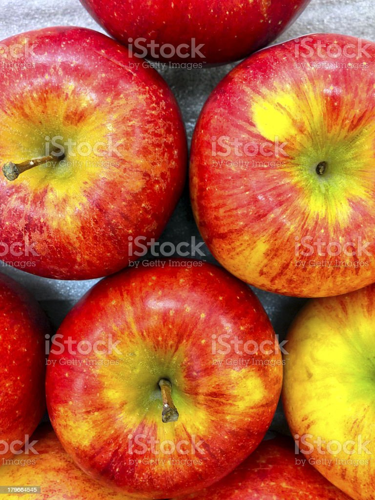 Singapore, apples for sale in market. royalty-free stock photo