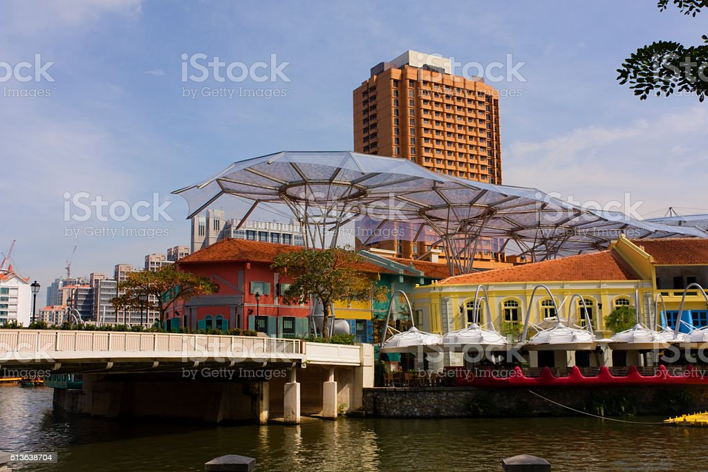Singapore architecture. stock photo