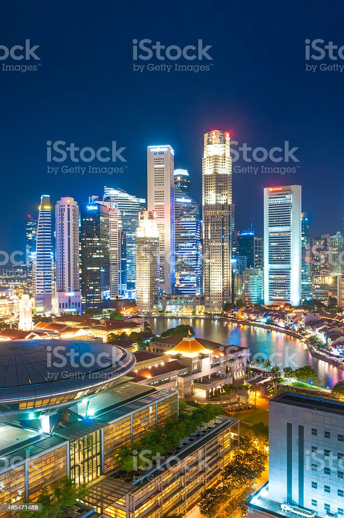 Singapore at Dusk stock photo