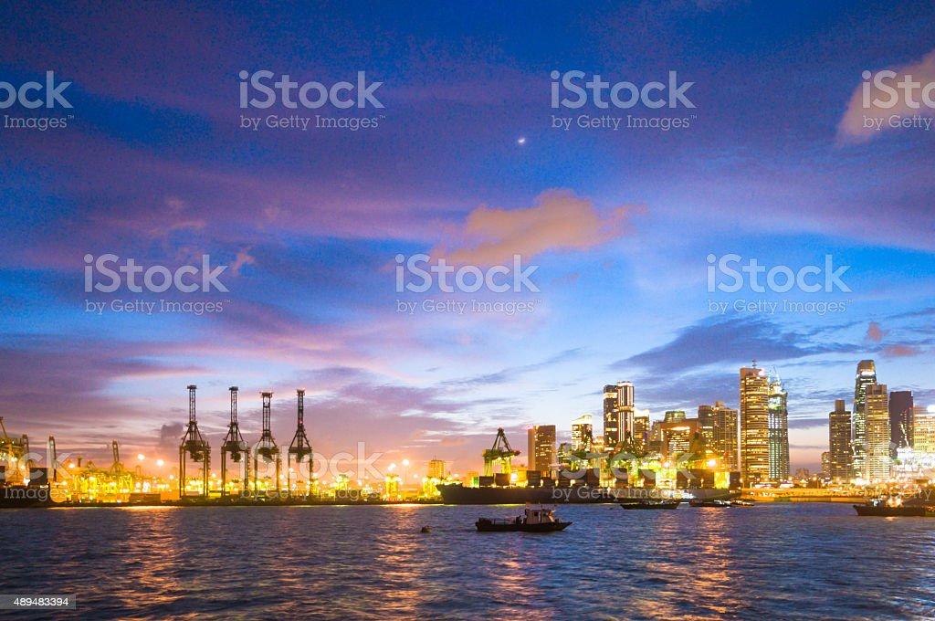 Singapore at Dusk stock photo