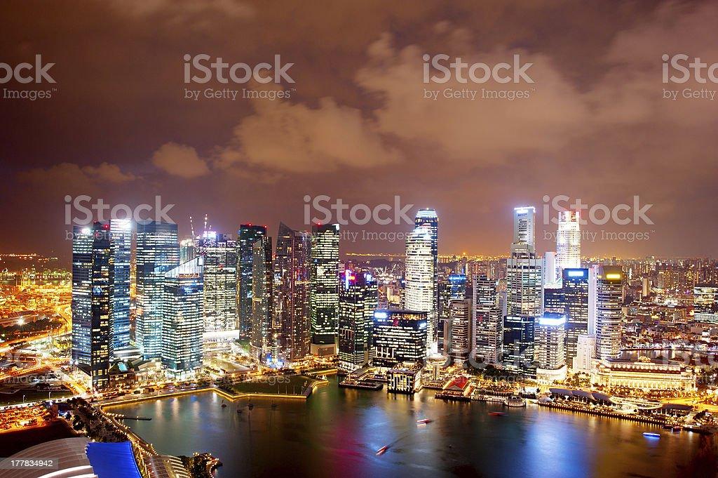 Singapore at night royalty-free stock photo