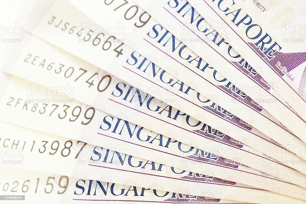 Singapore Banknotes royalty-free stock photo