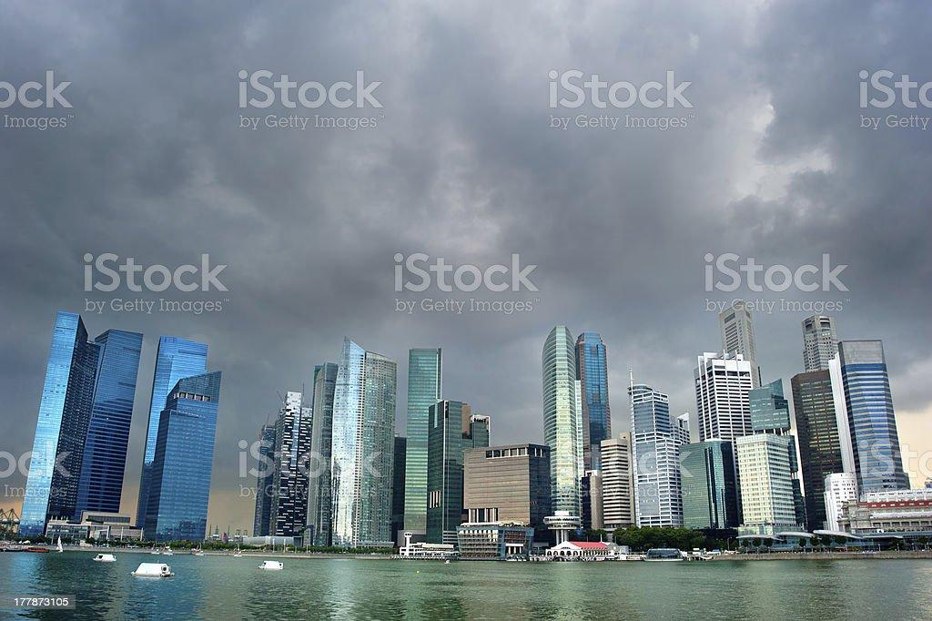 Singapore before the rain royalty-free stock photo