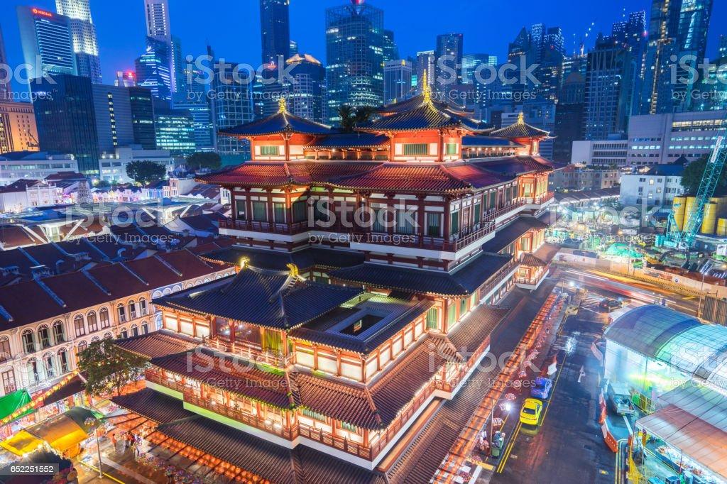 Singapore Buddha Teeth Relic Temple in Singapore city. stock photo